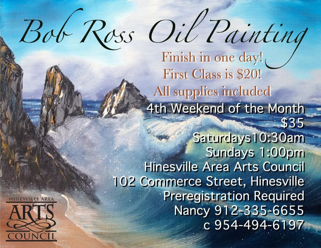 Bob Ross Oil Painting Class