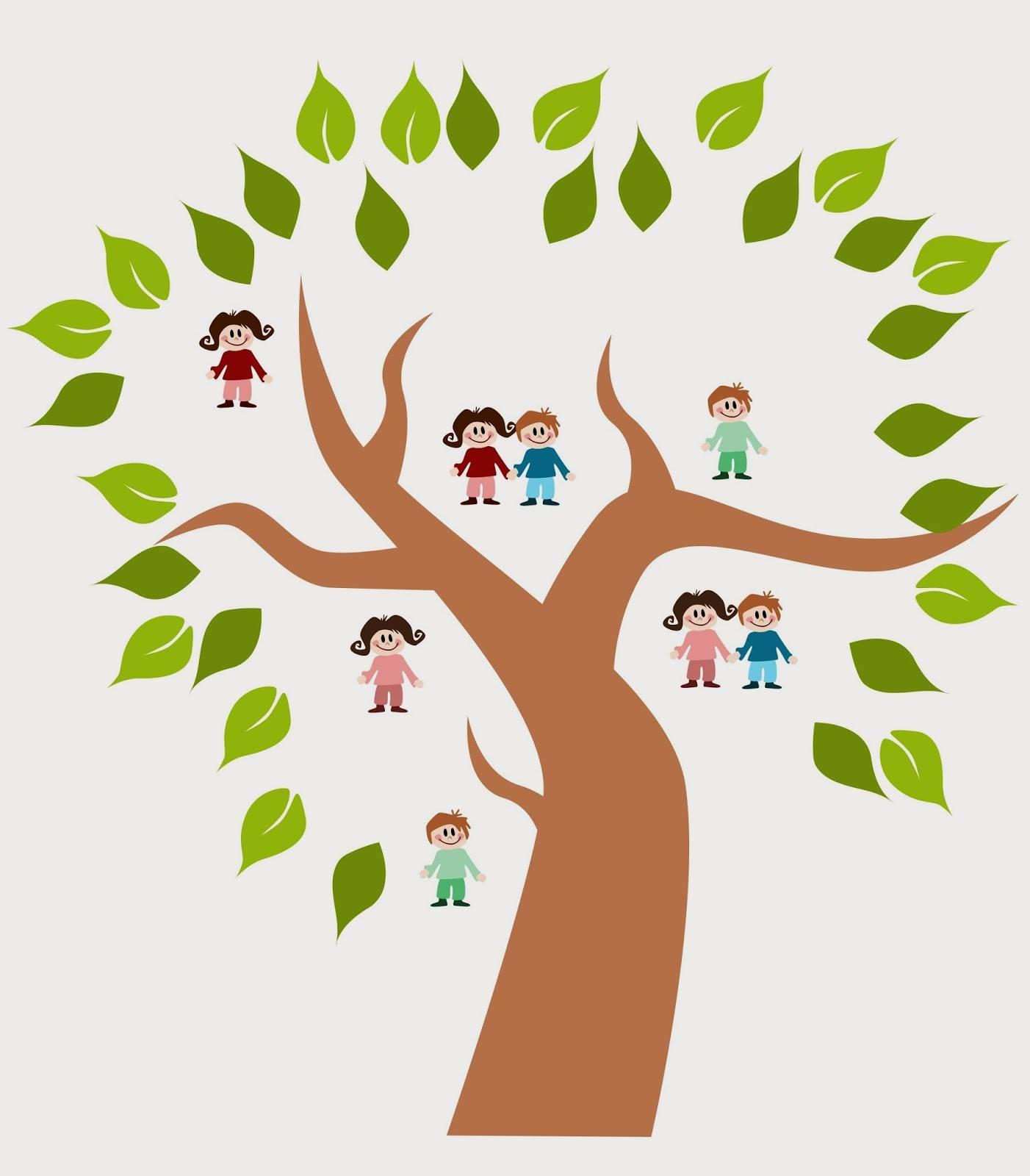 children s family tree making art class